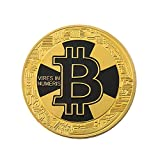 Connoworld Double Sided Embossing Round Bitcoin Commemorative Coin Collection Souvenir Gift - Golden