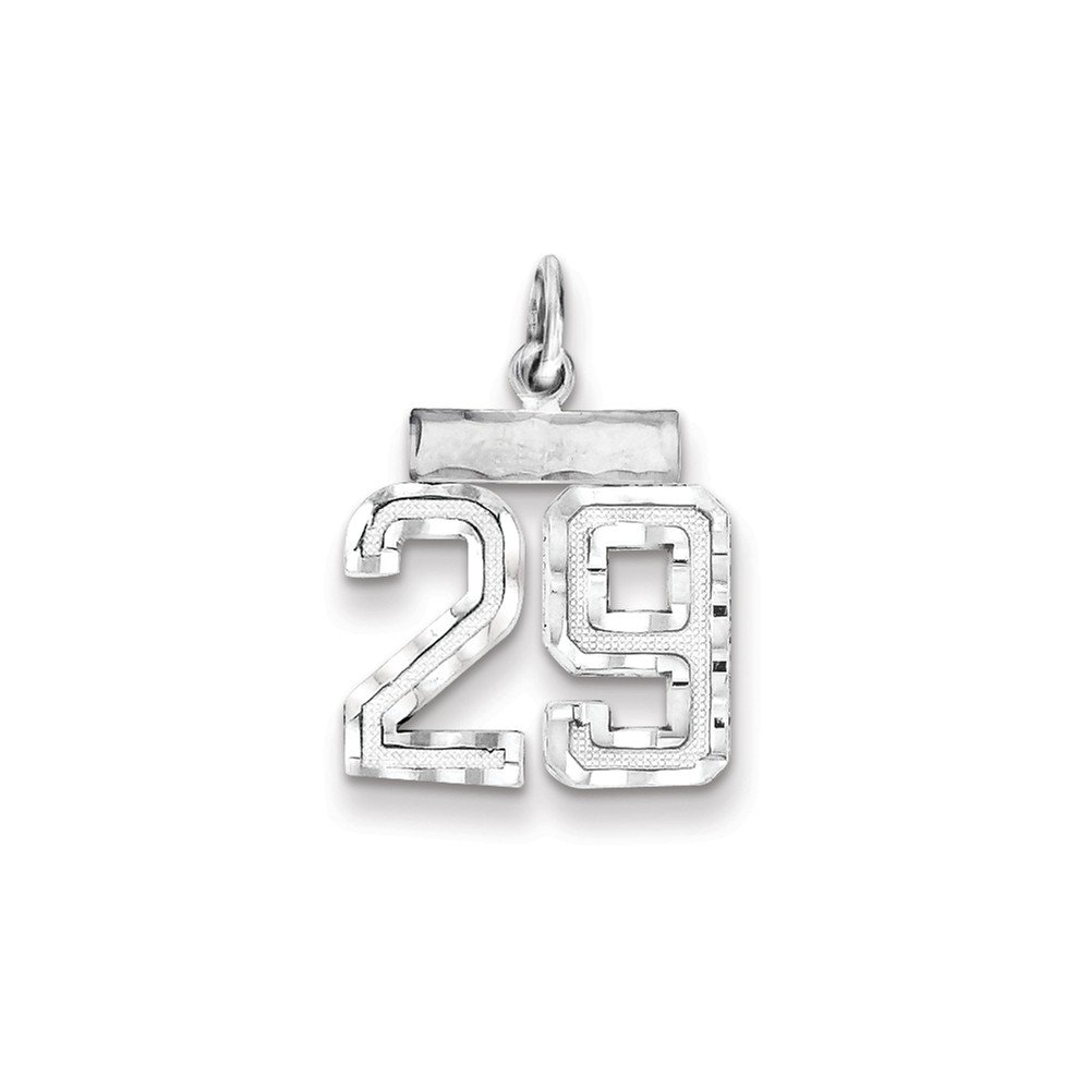 14mm x 20mm Jewel Tie 925 Sterling Silver Small #29 Pendant Charm