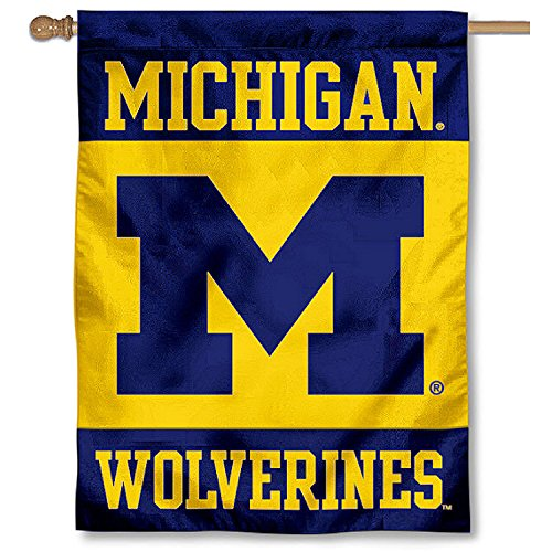 College Flags and Banners Co. Michigan Wolverines Banner House Flag
