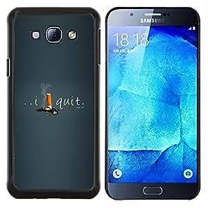 - HELP MOTIVATING SMOKING I CIGARETTES QUIT - Caja del telšŠfono delgado Guardia Armor- For Samsung Galaxy A8 A8000 Devil Case
