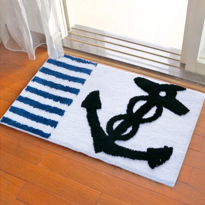 Door mat door mat door bathrooms in the Hall toilet bathroom mat absorbent bathroom mat rug mat Navy by ZYZX