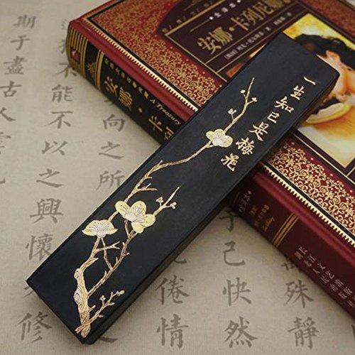 (High Grade Chinese Ink Stick Inkstick,Chinese Calligraphy / Sumi Drawing / Kanji Ink Block (Plum Blossom Ink Stick))