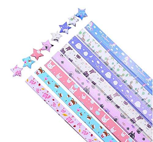Lovely Cartoon Animals Pattern Lucky Star Craft Paper 370 Sheets