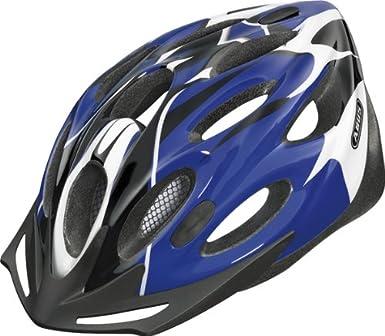 Abus Raxtor - Casco de ciclista (58-62 cm), color blanco y negro azul Cobalt blue Talla:M (54-58 cm): Amazon.es: Deportes y aire libre