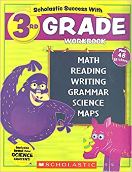 New 2018 Edition Scholastic 3rd Grade Workbook With Motivational