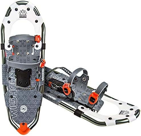 WildHorn Outfitters Sawtooth Snowshoes for Men and Women. Fully Adjustable Bindings, Lightweight Material, Hard Pack Grip Teeth. New for 2019