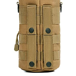 Orca Tactical MOLLE H2O Water Bottle Pouch Hydration Carrier (Coyote Brown)