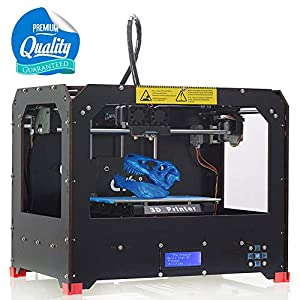 3D Printer, FDM Double Extruder LCD Screen Desktop 3D Printer Professional 3D Printer kit, Desktop Printer with 1.75mm ABS/PLA Printing Filament Prusa I3 3D Printer(225x145x150mm) by Balco