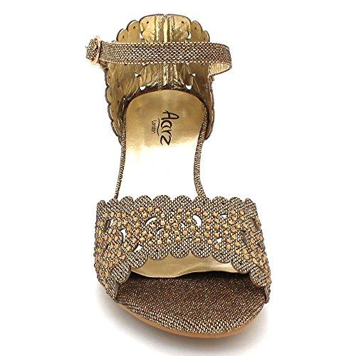 Brun Damene Sandaler Kveld London Brude Prom Kvinners Diamant Glitrende Aarz Bryllup Kile Sko Hæl Størrelse qUn6xEwP