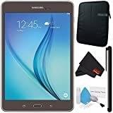 Samsung 16GB Galaxy Tab A 8.0'' Wi-Fi Tablet (Titanium) SM-T350NZAAXAR + Deluxe Cleaning Kit + MicroFiber Cloth + Universal Stylus for Tablets + Tablet Neoprene Sleeve 10.1'' Case (Black) Bundle
