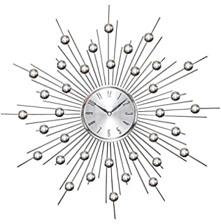 deco 79 metal wall clock wall clock featuring star burst