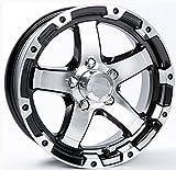 TWO (2) Aluminum Sendel Trailer Rims Wheels 5 Lug 14'' T08 Silver/Black Style