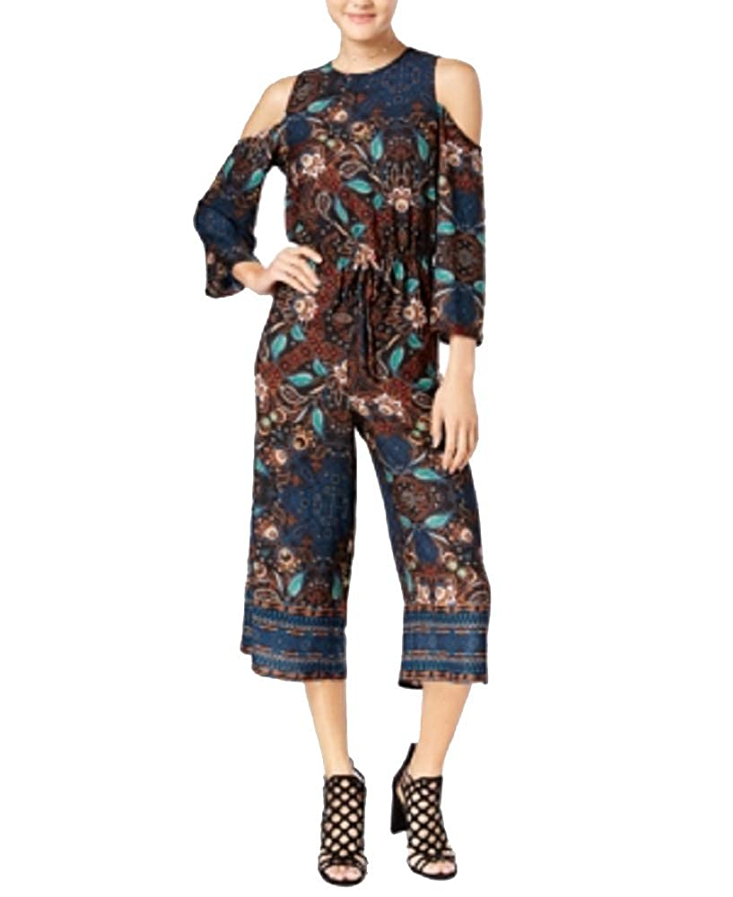 Be Bop Juniors Cold-Shoulder Gaucho Jumpsuit