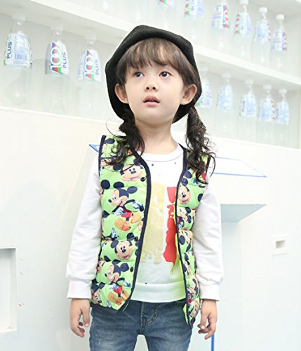Vest Cartoon Lemonkids;® Outfits Jacket mickey Children green Kids Warm Lightweight Wadded RPrEHFqwR
