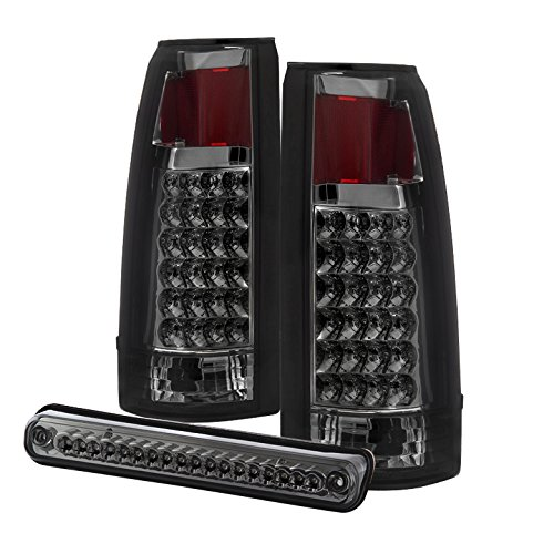 Tail Lights For 88-98 Chevy C/K Series 1500/2500/3500 / GMC Sierra 88-98 LED with 3rd LED brake Light - Smoked