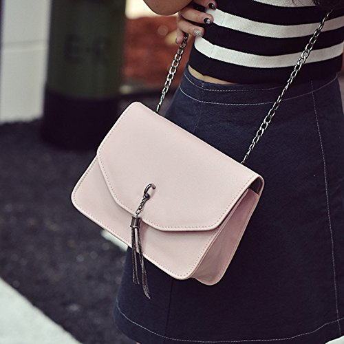 Chain Leather Pink Domybest Messenger Bags Tassel Messenger PU Mini Shoulder Women Bag Crossbody 0xxEgq7S