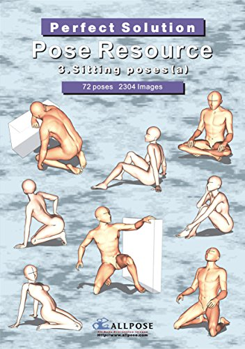 [Allpose Book] 3_Sitting poses(a)Cartooning Comic Character Figure Drawing. (Learn comic,cartoon,manga,anime,illustration human body pose drawing techniques.) (Pose Resource 24 Books)
