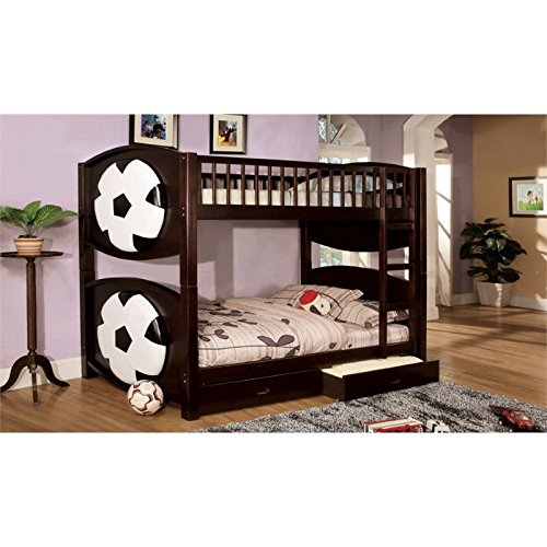 Furniture of America Soccer Bunk Bed with 2-Drawers, Twin