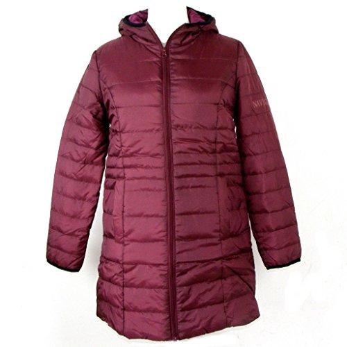 chaqueta Larga Básico guateada Mode Abrigo para mujer Manga HS qcHYEOawY
