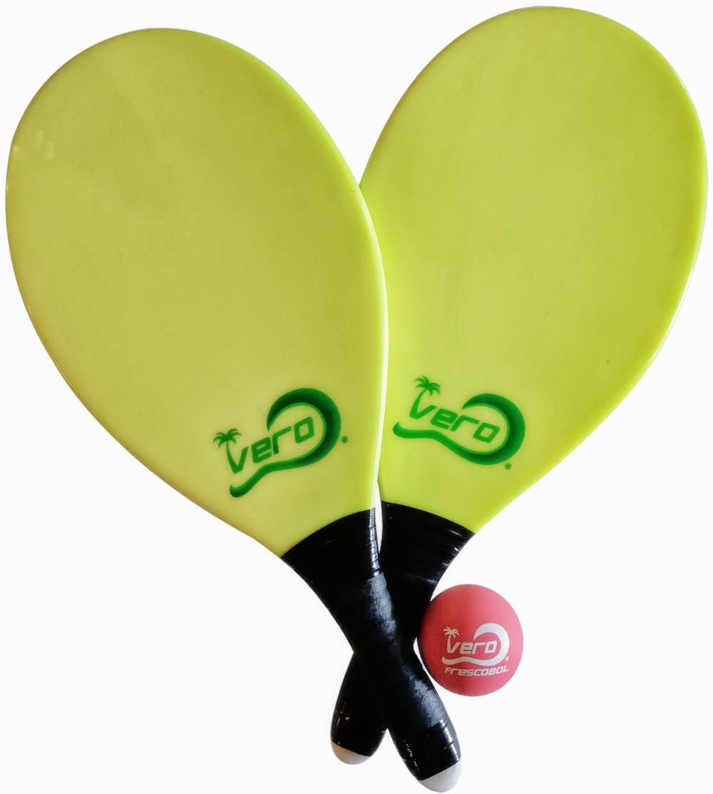 Frescobol Fiberglass Beach Paddleball Paddle set, Official Ball, Bag