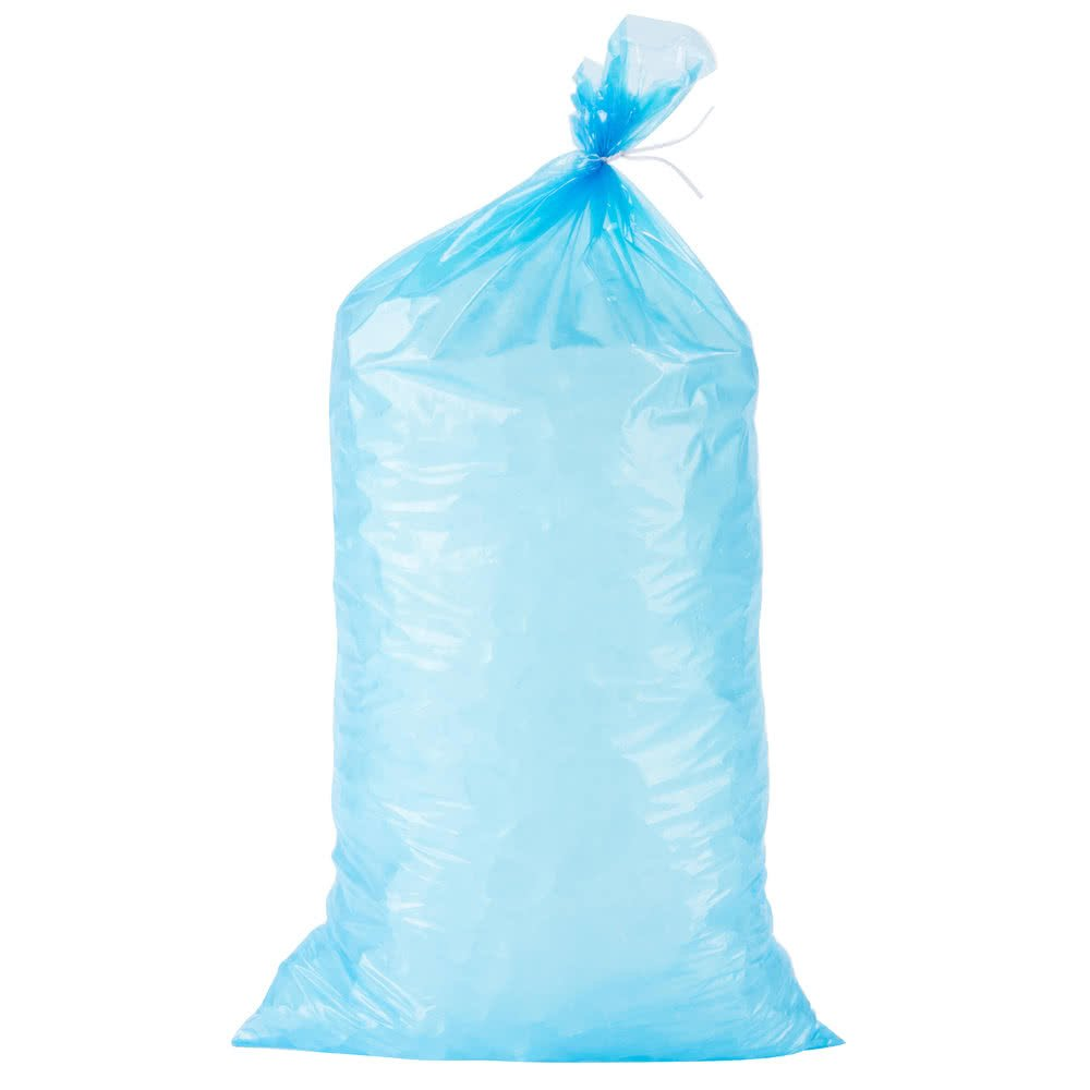 a2zchef Blue Heavy Duty Plastic Ice Bags with Twist Ties Wholesale Bulk- 1000/Case (20 lbs)