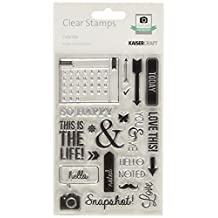 Kaisercraft CS158 Acrylic Rubber Captured Moments Stamp, 6.25 by 4-Inch, Calendar, Clear