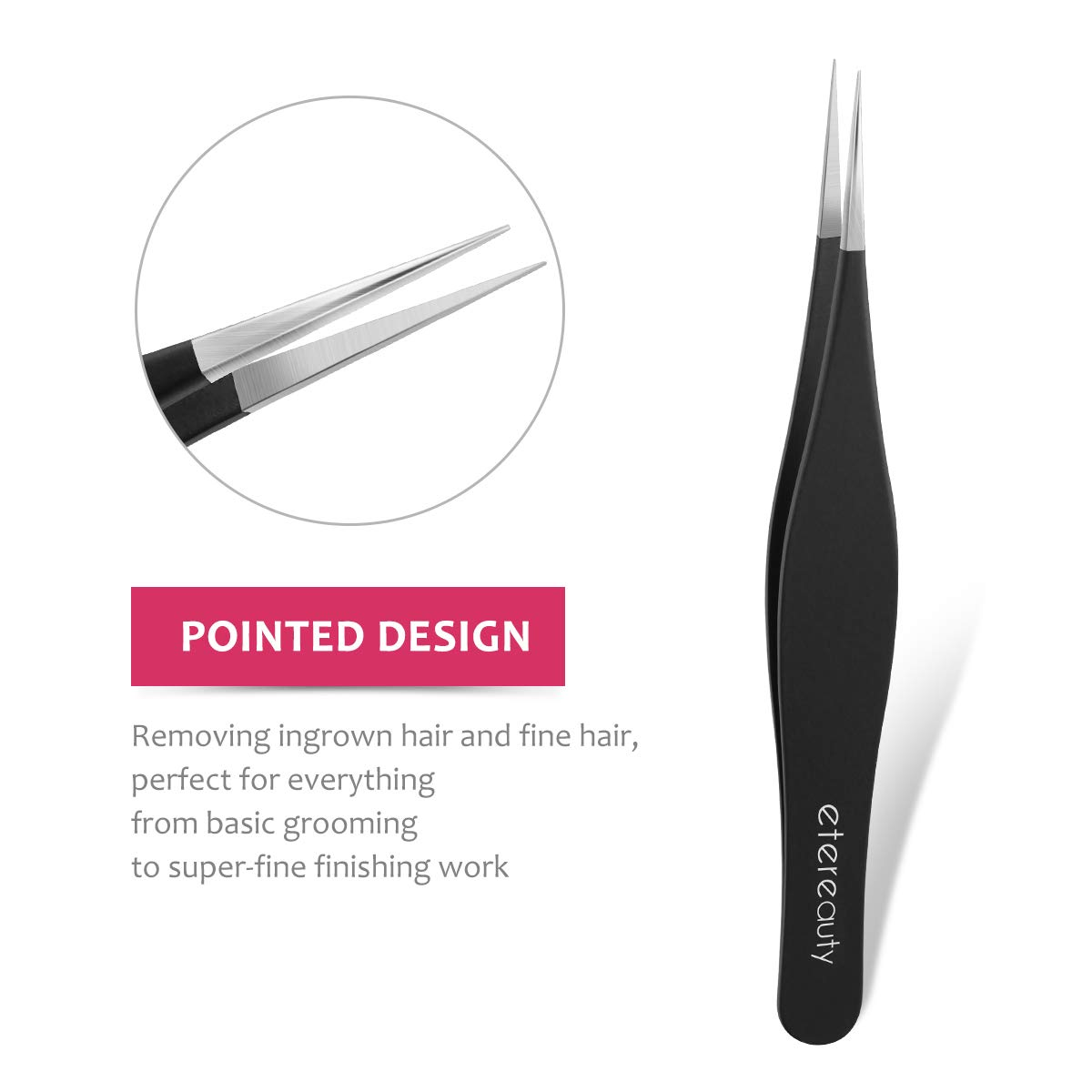 Tweezers Set 3-piece, Tweeze Slant Tip and Pointed Eyebrow Tweezer