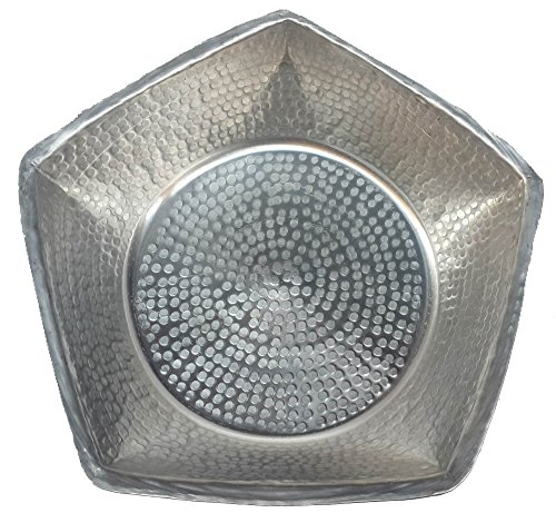 Egypt Gift Shops Hand Hammered Pentagon Design Handmade Silver Foot Wash Massage Spa Cleansing Bathtub Basin Beauty Salon Pedicure Relax Skin Toes Care by Egypt gift shops
