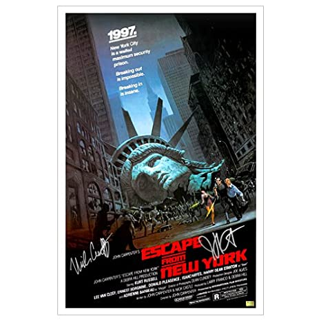 nick castle and john carpenter autographed 16x24 escape from new