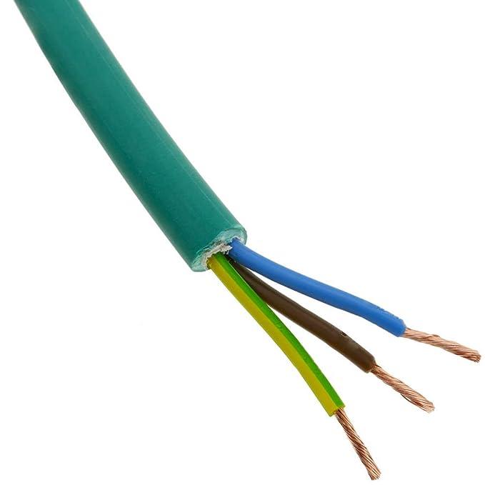 BeMatik - Bobina de Cable eléctrico de 3 Polos x 2.5 mm² 10 ...