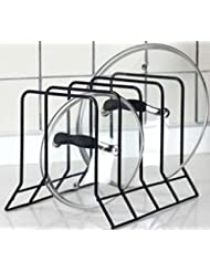 Shop amazonpot lid holders kitchen bakeware pot lid rack holder organizer black workwithnaturefo