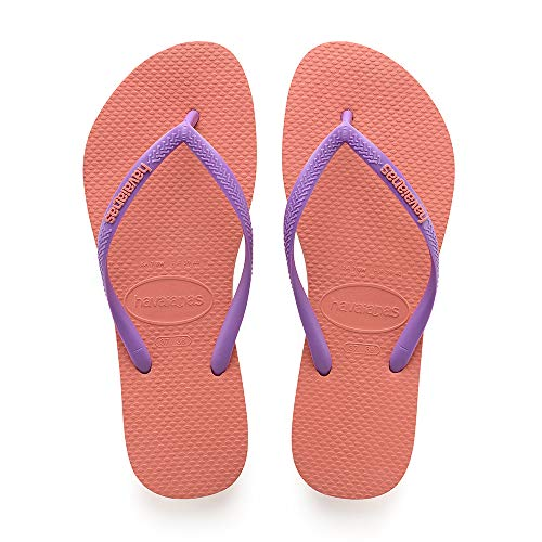 Mujer Para 6678 Cyber Havaianas orange Slim Naranja Chanclas Logo qwfxfz4I