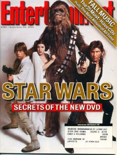 Entertainment Weekly September 24, 2004 Star Wars, Bernie Mac, The Clash, Nancy Sinatra with Morrissey & Bono, Green Day, Elvis Costello