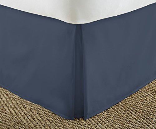 ienjoy Home Home Collection Pleated Bed Skirt, Twin XL, Navy