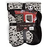 """Disney Nightmare Before Christmas Jack Skellington Expressions Luxury Multi-Functional Pet Throw Blanket/Portable, Dog Mat/Cat Mat, 30""""x40"""", Collector's Edition"""