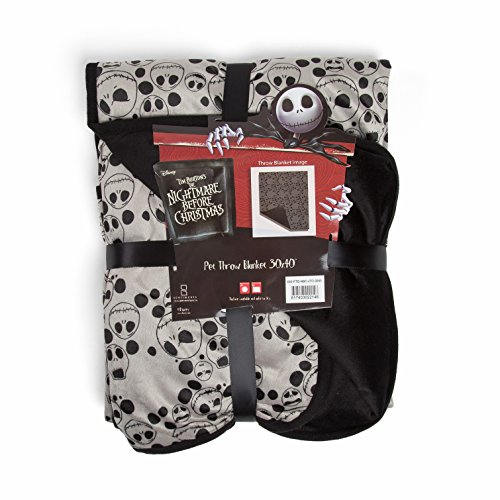 """Disney Nightmare Before Christmas Jack Skellington Expressions Luxury Multi-Functional Pet Throw Blanket/Portable, Dog Mat/Cat Mat, 30""""x40"""", Collector's Edition Review"""