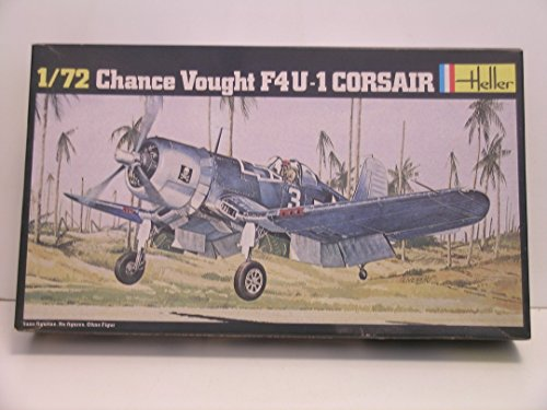 Heller Models-1/72 Scale Chance Vought F4U-1 Corsair-Plastic Model Kit