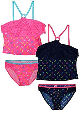 Real Love Girls' 2 Pack Tankini Bathing Suit Separates