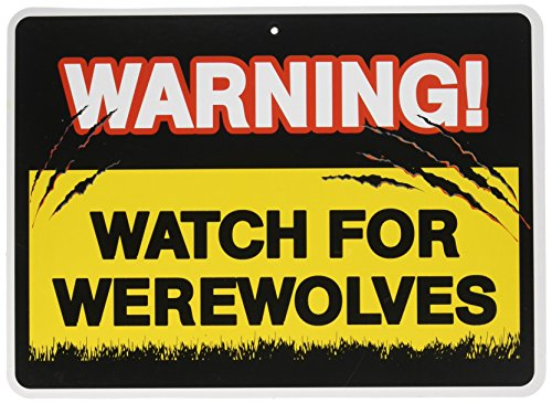Vampire Decorations (Warning Sign Watch Out For Vampires Werewolves Halloween Party)