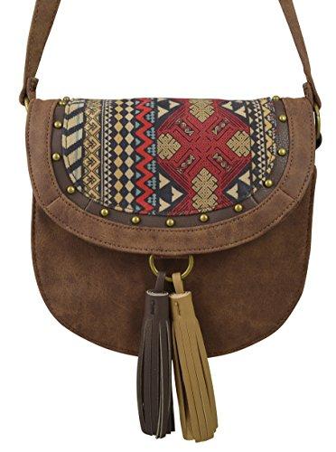 Women's/Girls' Cowgirl Saddle Handbag Crossbody w/ Fringed Tassel