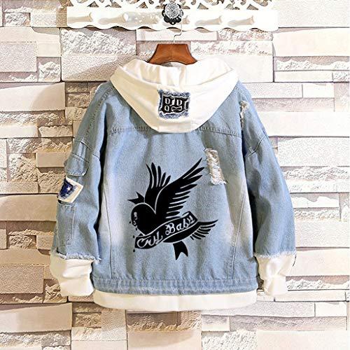 Aopostall Li Peep Jeans Denim Jacket Love Printed Fashion Sport Hip Hop Hoodie