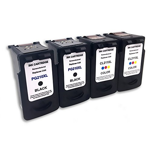 2 Set Remanufactured Ink Cartridge Replacement For PG 210...