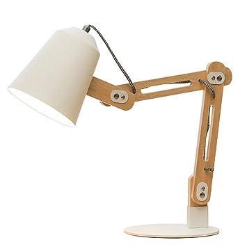 Asdzxcm Wood Swing Arm Schreibtischlampe Designer Tischlampe