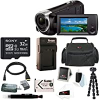Sony HD Video Recording HDRCX440 HDRCX440B Handycam Camcorder + Sony 32GB SDH...