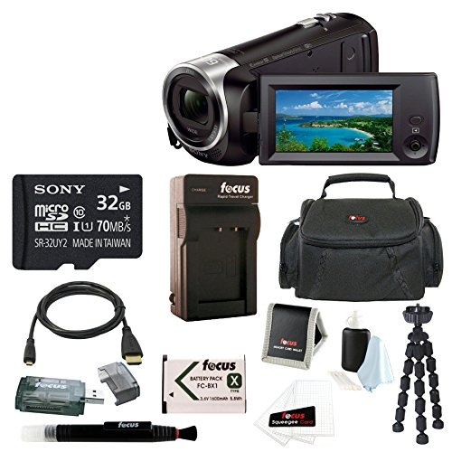 Sony HD Video Recording HDRCX440 HDRCX440B Handycam Camcorder + Sony 32GB SDH…