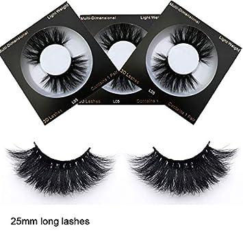 Real mink 25mm lashes true mink eyelashes     - Amazon com