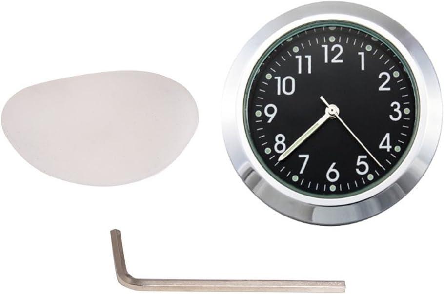 Non Brand 7 8 1 Motorrad Fahrradlenker Chrom Schwarz Zifferblatt Uhr Für Honda Shadow Auto