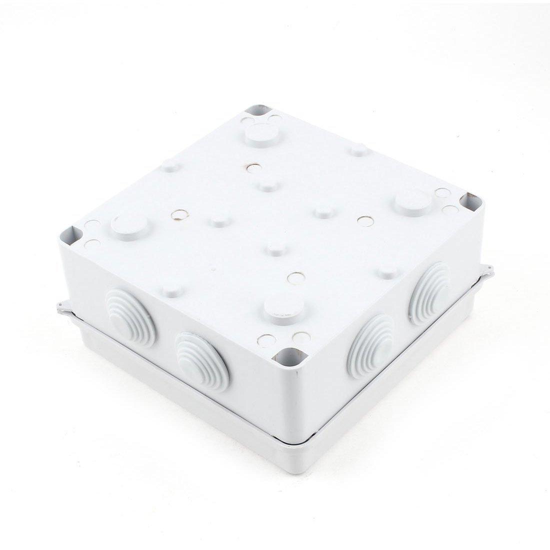 Wasserdicht IP65 25 mm Dia weiss ABS 150 x 150 x 70 mm Loch Abzweigkasten R TOOGOO