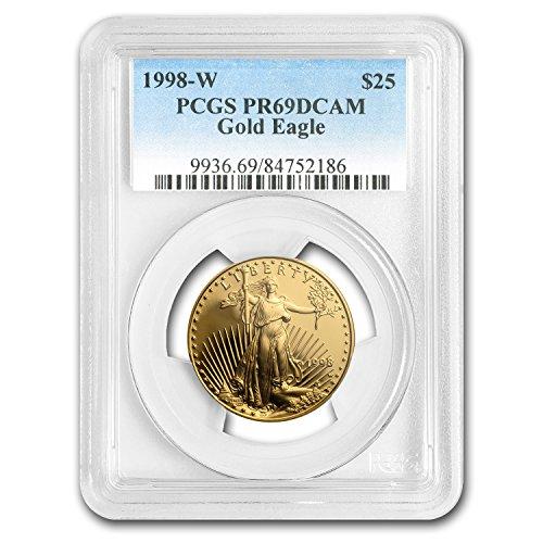 1998 W 1/2 oz Proof Gold American Eagle PR-69 PCGS 1/2 OZ PR-69 PCGS