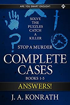 STOP A MURDER - ANSWER BOOK (Mystery Puzzle 6) by [Konrath, J.A.]